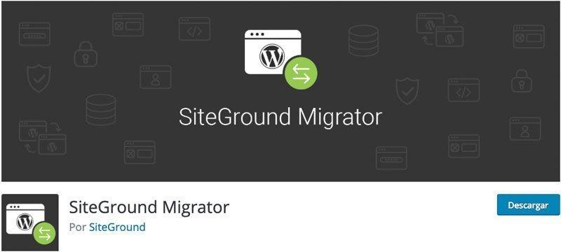 plugin SiteGround Migrator