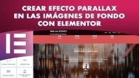 Crear efecto Parallax en las imágenes de fondo con Elementor