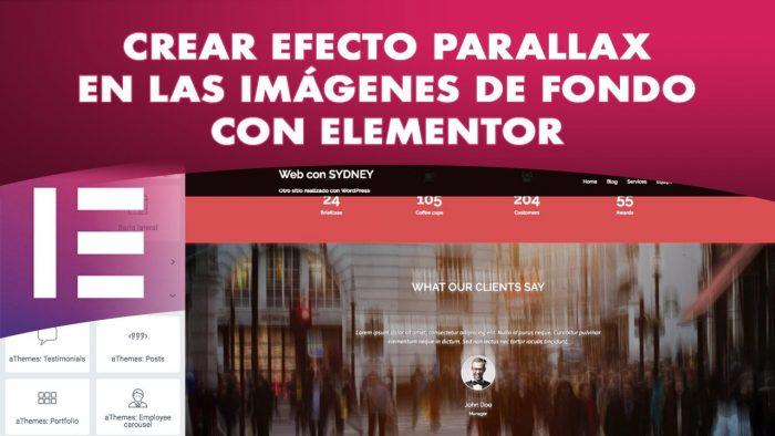 Configurar efecto Parallax con Elementor en Sydney