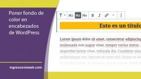 fondo de color en editor de WordPress