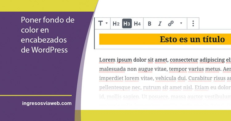 fondo de color en editor de WordPress