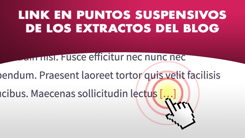 puntos suspensivos de los extractos de WordPress