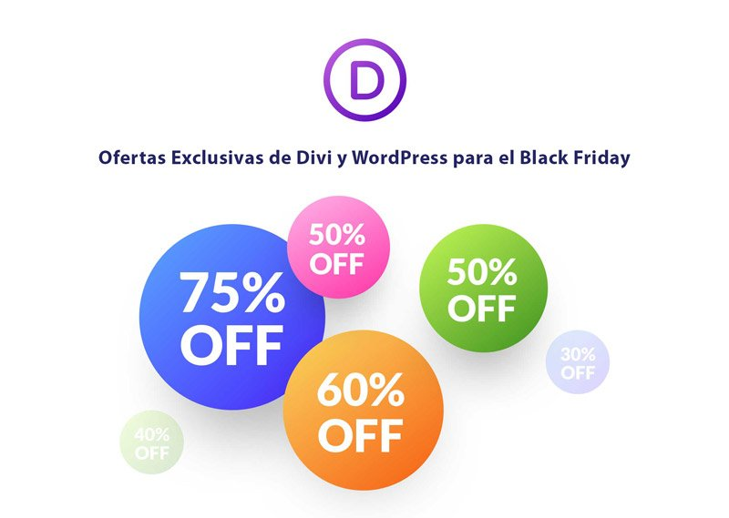 Oferta exclusiva Divi Black Friday