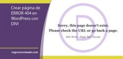 Personalizar error 404 en WordPress con Divi