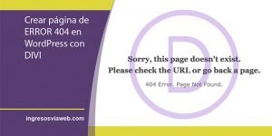error 404 en wordpress
