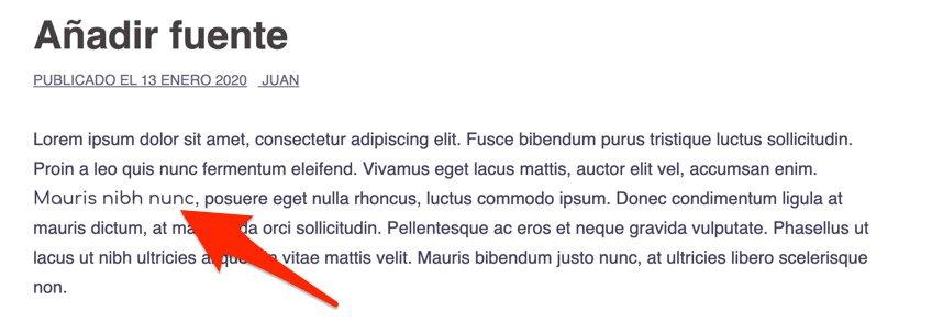 Fuentes diferentes en el mismo párrafo aplicado con CSS