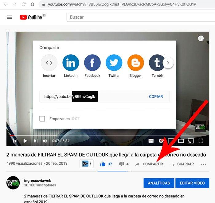 Identificador del vídeo de Youtube
