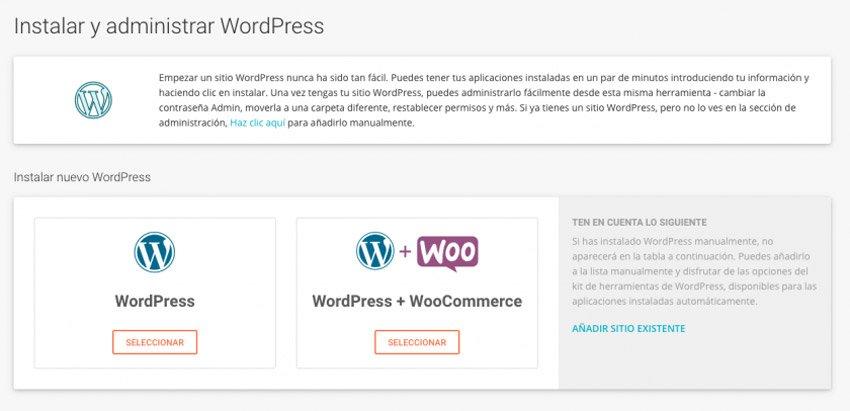 Instalar y configurar WordPress dede SiteGround