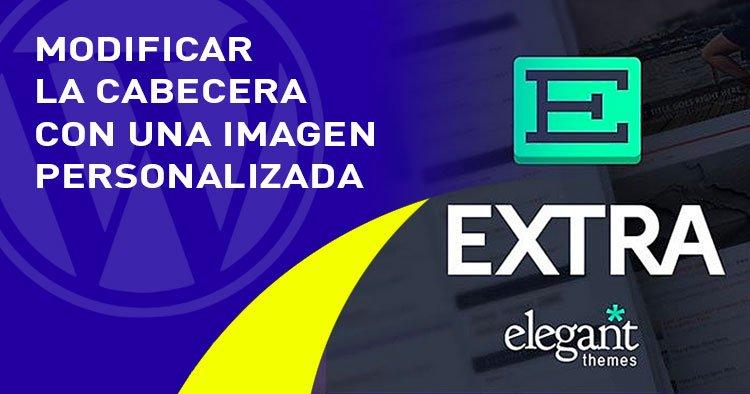 cabecera con imagen personalizada en el tema EXTRA