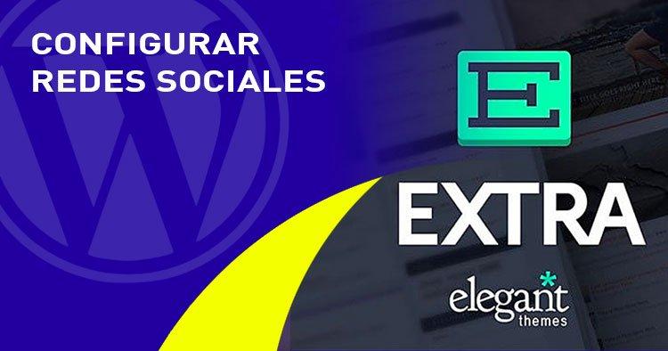 configurar redes sociales en el tema EXTRA