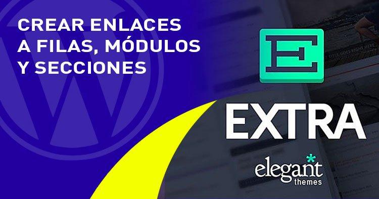 enlaces a modulos filas secciones en el tema EXTRA