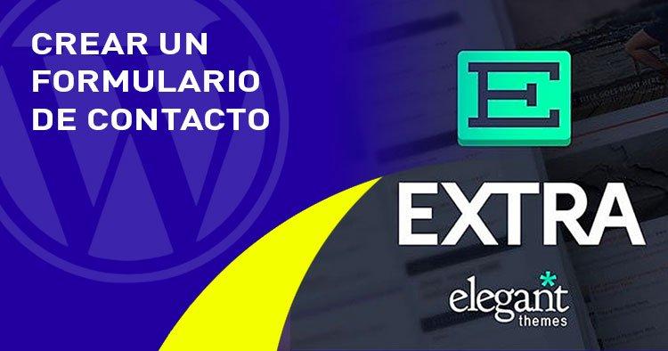 formulario de contacto en el tema EXTRA
