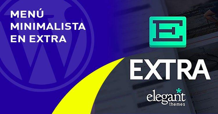 menu minimalista en el tema EXTRA
