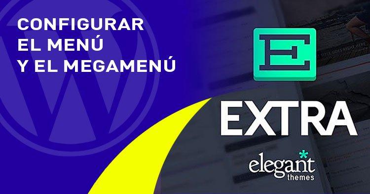 menu y megamenu en el tema EXTRA