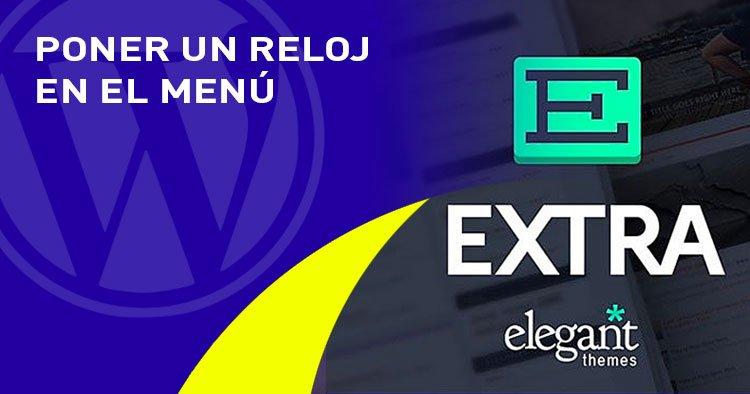 poner reloj en el menu en el tema EXTRA