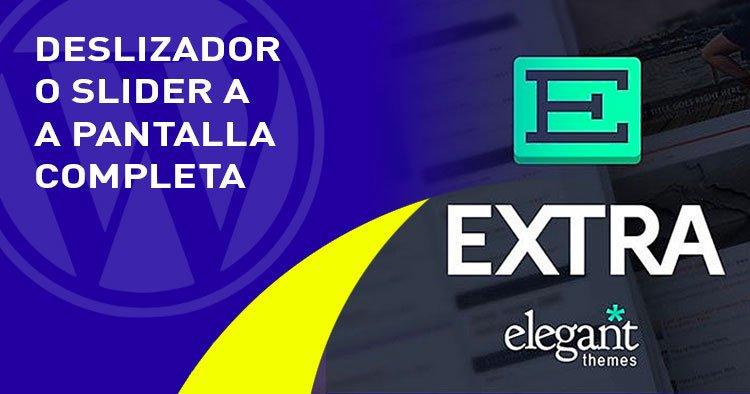 slider a pantalla completa en el tema EXTRA