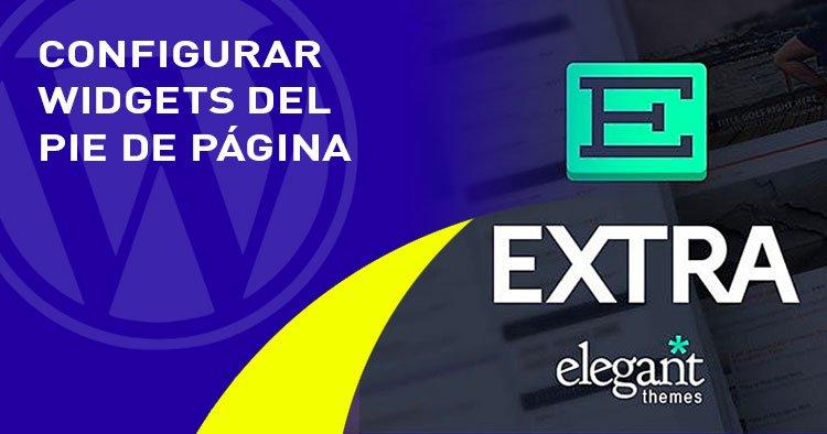 widgets pie de pagina en el tema EXTRA