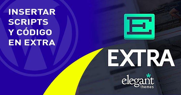 insertar codigo en el tema EXTRA