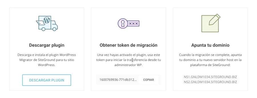 pasos para migrar una web a Siteground