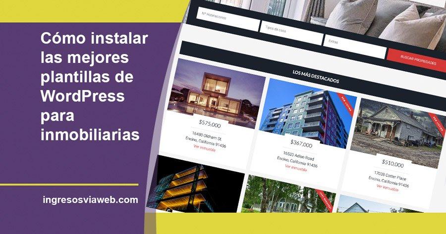 Mejores plantillas de WordPress para inmobiliarias, como instalar