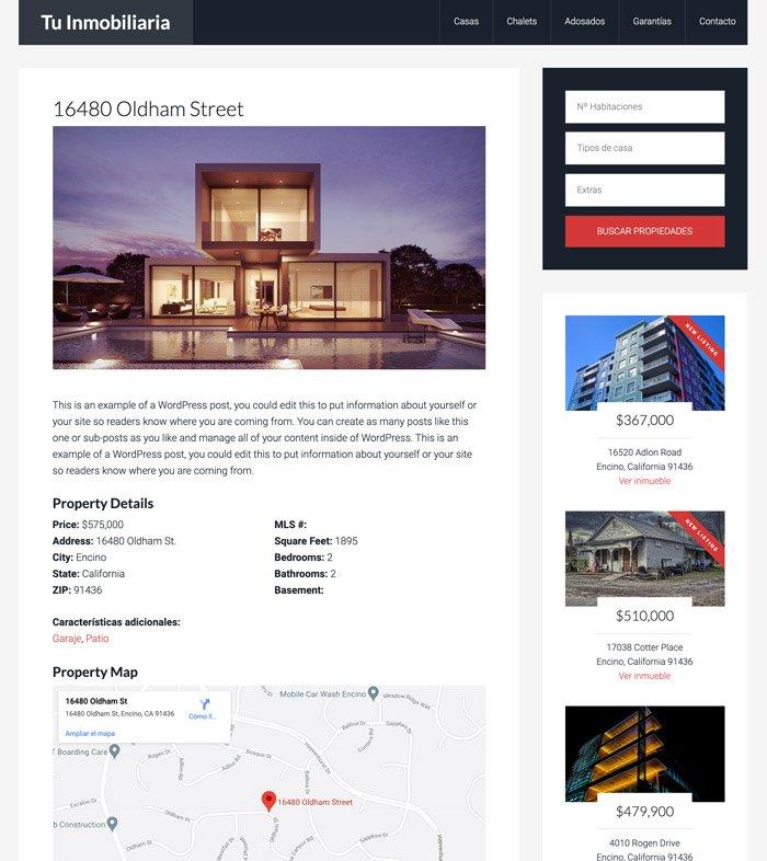 Página de casa en venta