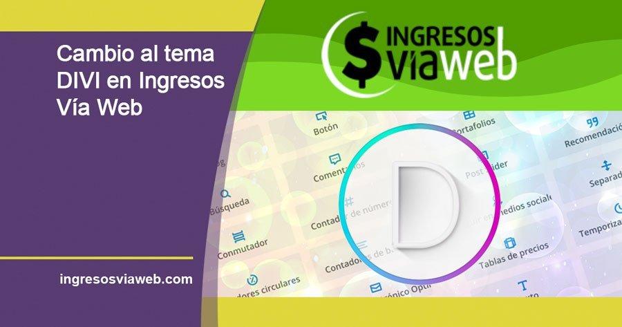 tema DIVI para ingresosviaweb